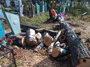 Соцсети: кресты и надгробья оказались разрушенными после благоустройства на кладбище в Лукояновском районе