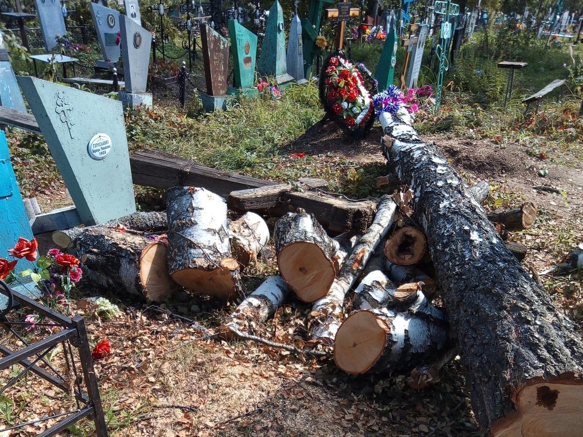Соцсети: кресты и надгробья оказались разрушенными после благоустройства на кладбище в Лукояновском районе - фото 1