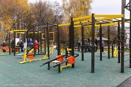 Площадка для воркаута с 40 спортивными элементами появилась в Советском районе