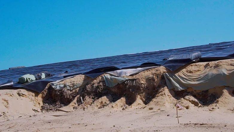 Дзержинское «Белое море» наполовину закрыли геомембраной - фото 5