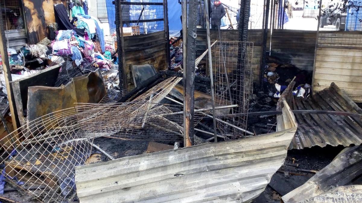 ГУ МЧС по региону показало, как выглядит Канавинский рынок после пожара - фото 1