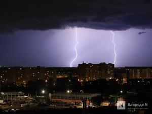 Гроза с градом накроет Нижегородскую область в ближайшие три часа