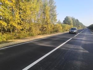 Десять километров дороги Городец – Ковернино отремонтировали почти за 60 млн рублей