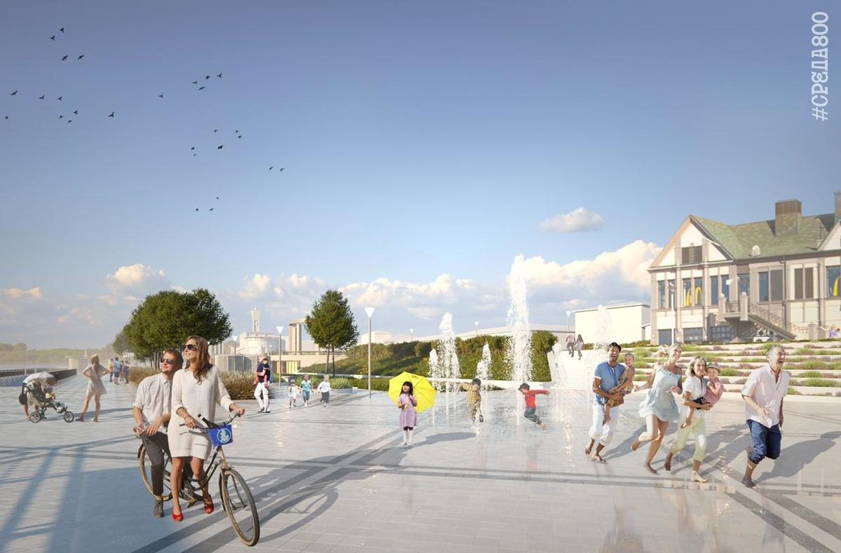 Светомузыкальный фонтан с водным экраном установят на Нижневолжской набережной - фото 1