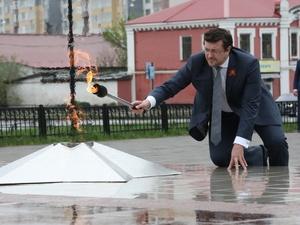 Частица кремлевского Вечного огня зажглась в Сормове