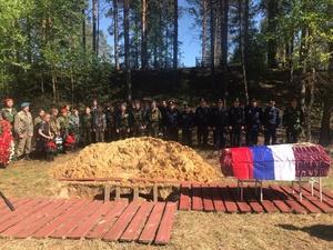 В Нижегородской области захоронили останки летчиков бомбардировщика А-20 «Бостон», погибших в 1947 году