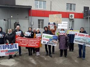 Пикеты против строительства низконапорного гидроузла прошли в Городце, Балахне и в Сормове