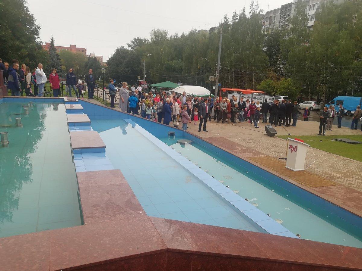Фонтан на улице Рокоссовского открыли после ремонта - фото 1